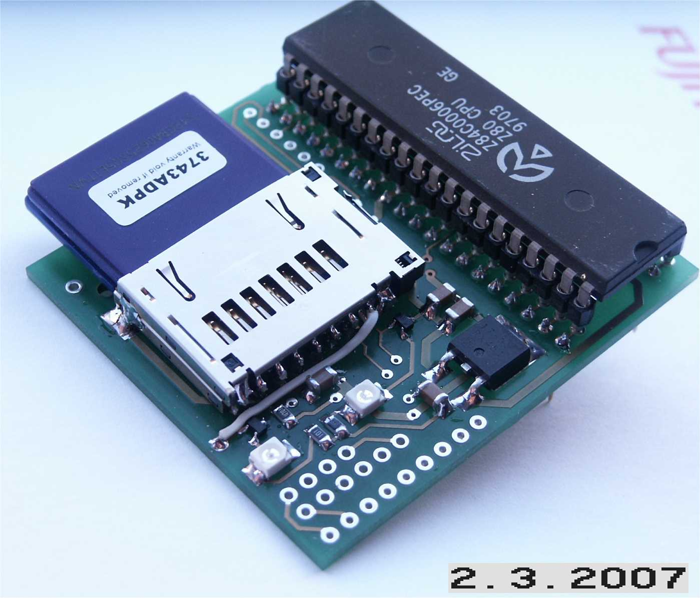 The Zxmmc Interface Basic Digital Computing Circuitry Used In Sinclair Spectrum This Can Be Plugged Into Z80 Socket Of A 128k 2a 3 Zx It Works On Any Including 16 48k Machines But There Are Physical